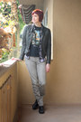 Black-clarks-boots-gray-h-m-jeans-black-leather-nine-west-jacket