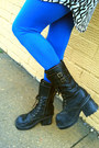 Black-soda-boots-white-forever-21-dress-blue-h-m-leggings