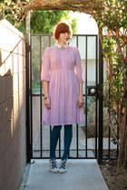 bubble gum vintage dress - teal Gap tights