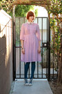 Bubble-gum-vintage-dress-teal-gap-tights