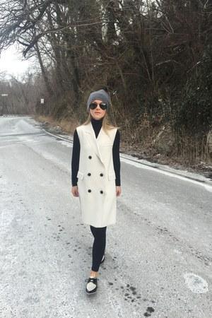 black Zara shoes - white Topshop vest