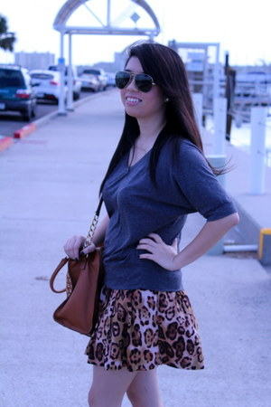 skirt - boots - Michael Kors purse - Ray Ban sunglasses - Love Culture blouse