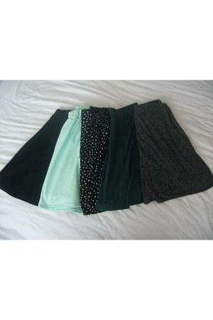 Topshop skirt - Primark skirt - H&M skirt - Topshop skirt - Internacionale skirt