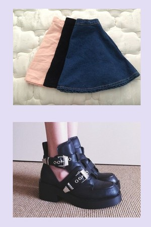 Urban Outfitters skirt - Jeffery Campbell boots