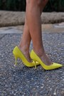 Yellow-christian-dior-shoes-red-milly-jacket