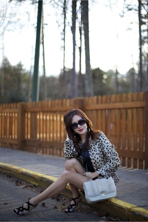 leopard print kristen blake jacket - black Alexandre Birman shoes
