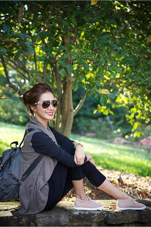 Elie Tahari top - Joie shoes - Elie Tahari jacket - Gucci sunglasses
