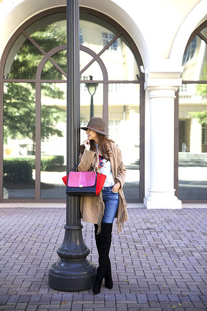 Jimmy Choo boots - Adriano Goldschmied jeans - H&M jacket - Celine bag