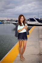 Chanel jacket - Valentino shoes - Chanel shorts - Tibi top