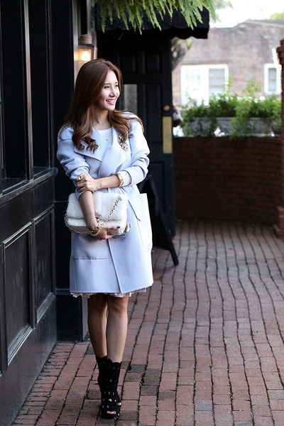 Burberry coat - alaia shoes - christian dior bag