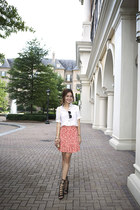 Marc by Marc Jacobs skirt - Aquazzura Firenze shoes - Prada bag