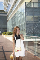 Chanel bag - Salvatorre Ferragamo shoes - rag & bone hat - Theory blouse