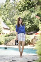 BCBG Maxazria blouse - Manolo Blahnik shoes - Chanel bag