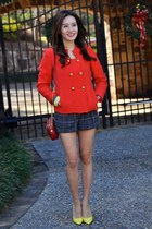 red milly jacket - yellow christian dior shoes