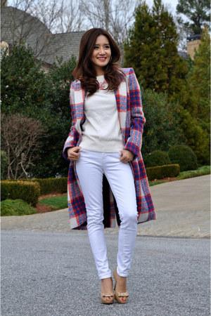 Zara coat - J Brand jeans - kate spade necklace