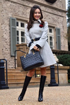 trench emporio armani coat - knee-high boots Jimmy Choo boots