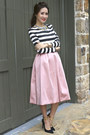 Zara-shoes-statement-bcbg-max-azria-necklace-stripes-zara-top