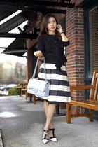 PAUW skirt - St John jacket - Chanel bag - Prada pumps