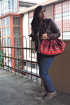 leather jacket jacket - shoes - bag