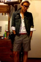 Topman shorts - American Apparel belt - American Apparel shirt - vintage jacket