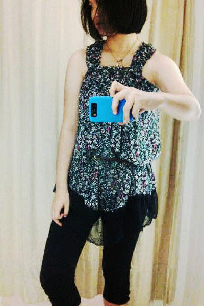 Mangdu leggings - Zara top - Forever21 necklace