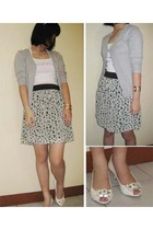 Mango top - Zara blouse - forever 21 skirt - charles&keith shoes - forever 21 br