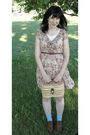 Beige-forever-21-dress-beige-salvation-army-purse-blue-target-socks-brown-