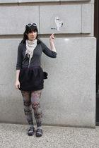 beige Target scarf - gray Forever 21 shirt - purple Forever 21 skirt - gray Fore