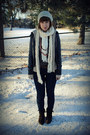 Gray-urban-outfitters-jacket-navy-urban-outfitters-jeans-beige-handmade-hat-