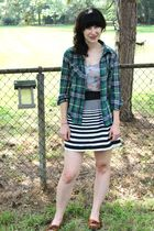 green Forever 21 shirt - gray Mudd shirt - black pitaya skirt - brown Minnetonka