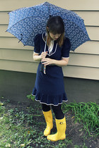 navy speedy girl dress - yellow rain boots Target boots