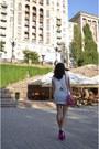Blouse-quiz-blouse-oba-bag-nature-breeze-heels-bershka-skirt