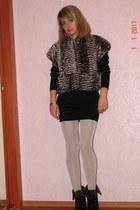 black Vero Moda dress - black Aldo heels