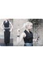 Black-mesh-jean-paul-gaultier-dress-bcbgmaxazria-belt-zara-vest