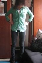 skirt - jeans - Betsey Johnson purse - Vans shoes