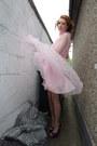 Purple-carvella-shoes-pink-vintage-dress