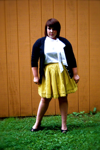 Old Navy sweater - Old Navy blouse - I made this skirt