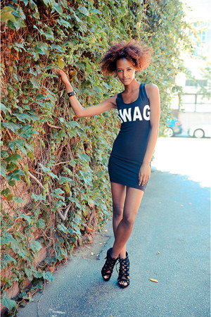 black cicihot dress - black Roxy heels