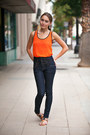 Carrot-orange-cicihot-top-sky-blue-denim-asos-jeans-black-nordstrom-scarf