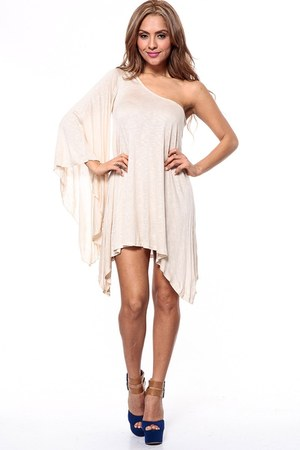 beige cicihot dress