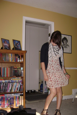 thrifted dress - Urban Planet scarf - - Aldo shoes