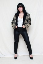 Pleather jeans - vintage blazer