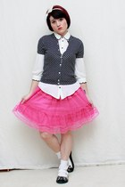 Forever 21 blouse - Childrens Place skirt - JCrew cardigan