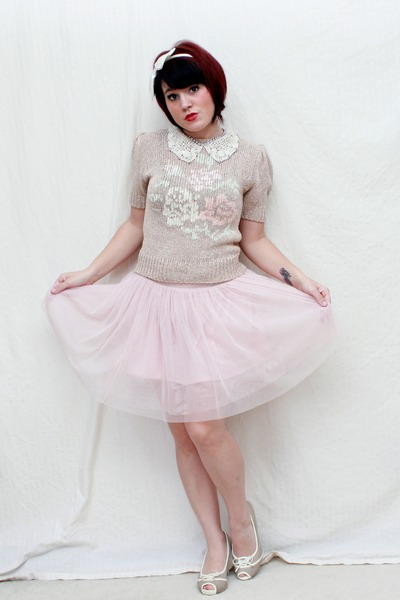 Vtg sweater - Forever 21 skirt - Mossimo heels