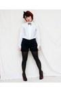 Old-navy-shorts-vtg-blouse-charlotte-russe-heels