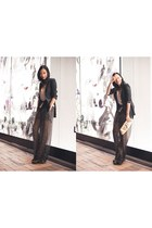 black blazer Theory jacket - black booties Zara boots