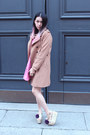 Bubble-gum-circle-rosegal-dress-camel-oversized-h-m-coat