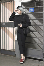 black Alexander Wang top - black faux leather Aesthetic pleasure bag