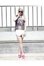 White-zara-shorts-dark-gray-dignitycloth-top