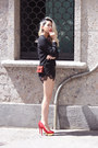 Black-zara-shirt-red-bvlgari-bag-black-supergurl-shorts
